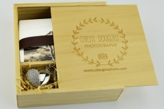 Wooden box & Jewelled USB
